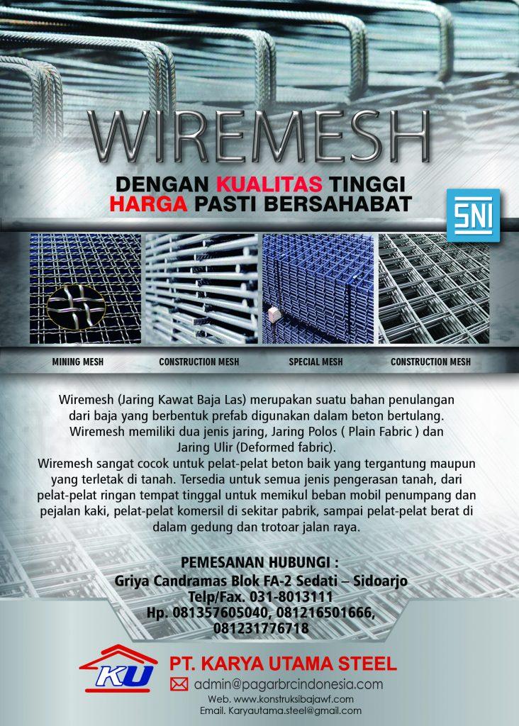 Jual Wiremesh Murah Harga Bersaing Hanya di Sidoarjo Jawa Timur