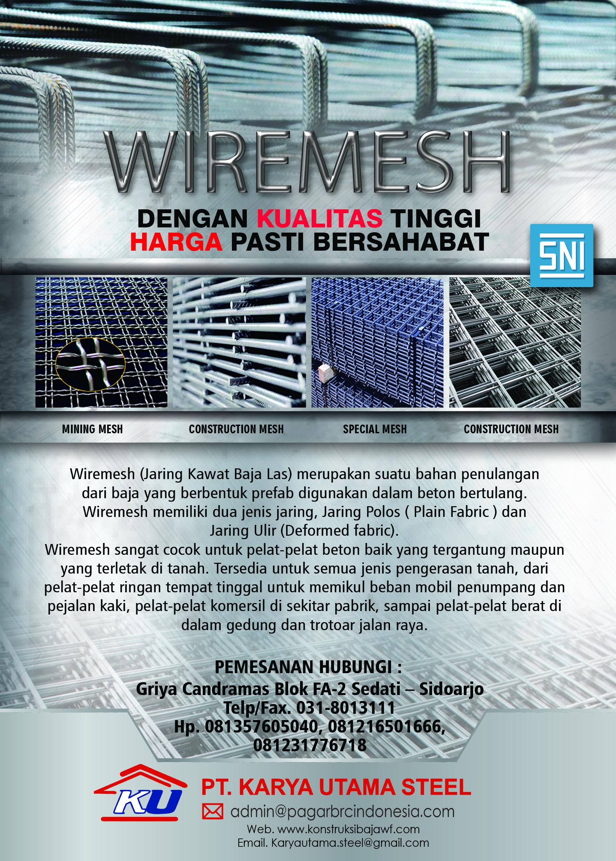 Ready Aneka Wiremesh SNI untuk kebutuhan proyek anda